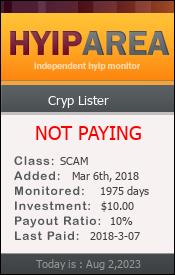 hyiparea.com - hyip cryplister limited