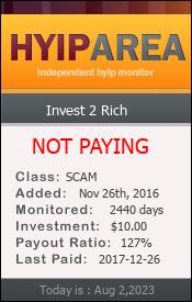 ссылка на мониторинг http://hyiparea.com/details/lid/12