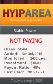ссылка на мониторинг http://hyiparea.com/details/lid/14