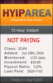 ссылка на мониторинг https://hyiparea.com/details/lid/195